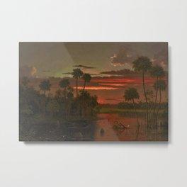The Great Florida Sunset by Martin Johnson Heade Metal Print
