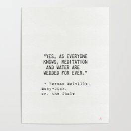 Herman Melville quote 17 Poster