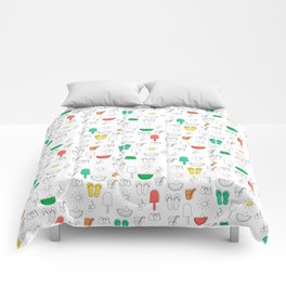 Summer outline Comforters