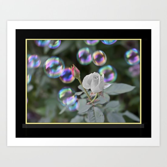 Bubbles and Roses Art Print
