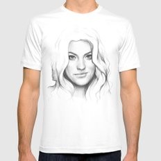 Debra Morgan (Jennifer Carpenter) White X-LARGE Mens Fitted Tee