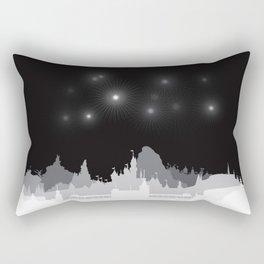Fireworks at night. Rectangular Pillow