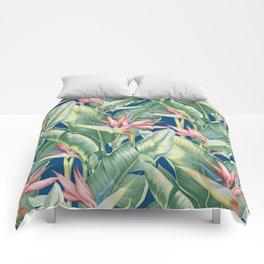 Flowers Birds of Paradise Comforters