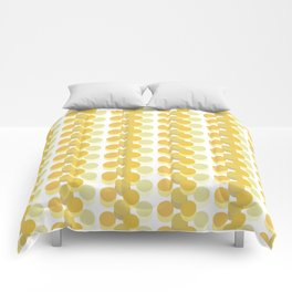 Refreshing Yellow Vintage 70s Geometric Pattern Circles Comforters