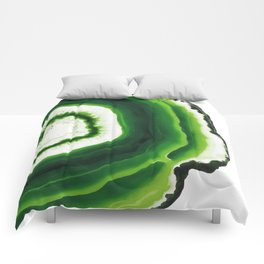 Green Agate Geode slice Comforters