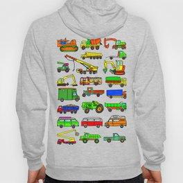 Doodle Trucks Vans and Vehicles Hoody