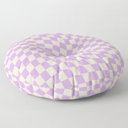 Check V - Lilac Twist — Checkerboard Print Floor Pillow