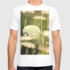 Gently White MEDIUM Mens Fitted Tee