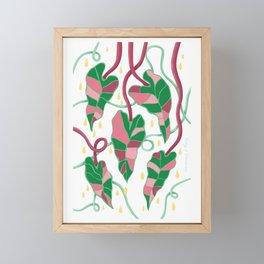 Flowing Vines Blush Pink Framed Mini Art Print