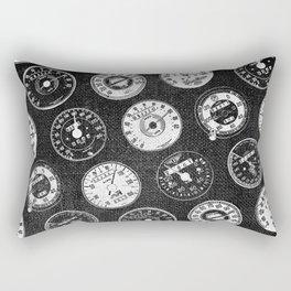 Dark Vintage Motorcycle Speedometers Rectangular Pillow