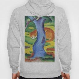 """Franz Marc """"Children's Picture: Cat behind a Tree (Kinderbild: Katze hinter einem Baum)"""" Hoody"""