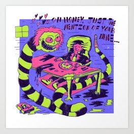 Beetle Juice x Dorthy Moore Art Print