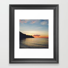Disappear and hide Framed Art Print