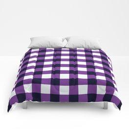 Purple Chessboard Comforters