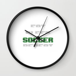 Eat Sleep Soccer Repeat Action Team Sports Ball Game Players gift Wall Clock
