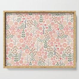 Scandi Dense Floral Pattern Serving Tray