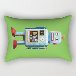 Retro Tin Toy Robot Polygon Art Rectangular Pillow