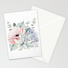 Pretty Succulents 2 by Nature Magick Stationery Cards