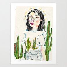 girl8 Art Print