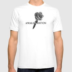 Amalgamation #5 White MEDIUM Mens Fitted Tee