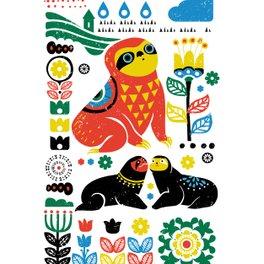 Art Print - Scandinavian Sloths - Huebucket