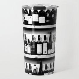 Wine Bottles in Black And White #decor #society6 #buyart Travel Mug