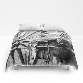 The cannon (black & white version) Comforters