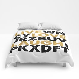 live, love, laugh Comforters