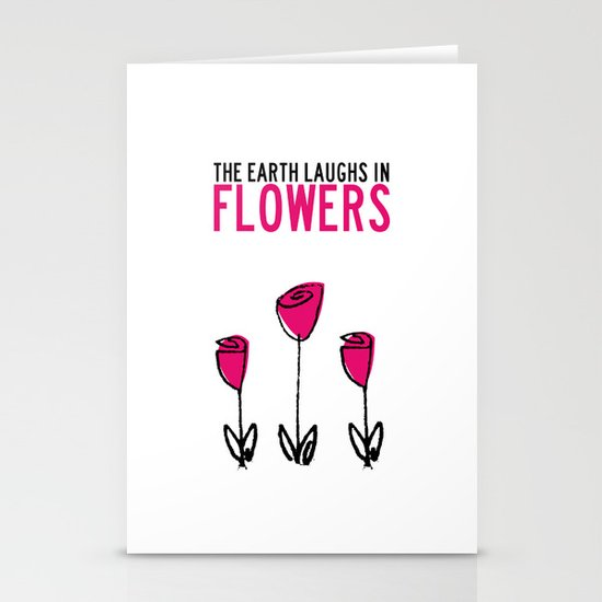 The earth laughs in flowers. Stationery Cards