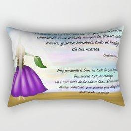 Niña flor del cielo - Deuteronomio 28, 12 Rectangular Pillow