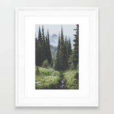 Through the Woods Framed Art Print