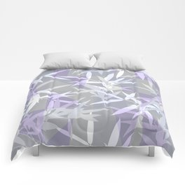 Elegant Grey Origami Geometric Effect Design Comforters