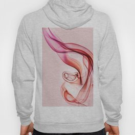 Pink and red smoke composition Hoody