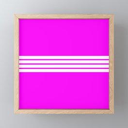 """4 Stripes on Pink """"Girlpower"""" Framed Mini Art Print"""