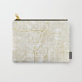 Las Vegas Map Gold Carry-All Pouch