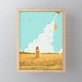 ROCKET LAUNCH Framed Mini Art Print