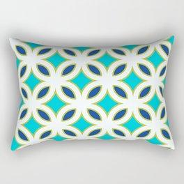 Trellis Teal Rectangular Pillow