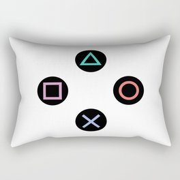 Play with Playstation Controller Buttons Rectangular Pillow