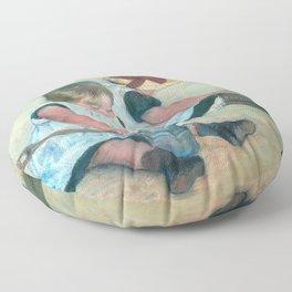 Mary Cassatt - Children Playing on the Beach Floor Pillow