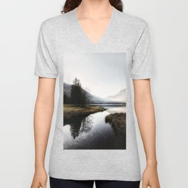 Mountain river 2 Unisex V-Neck