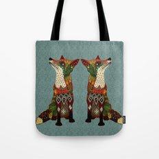 fox love juniper Tote Bag