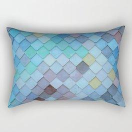 Blue Tiles (Color) Rectangular Pillow