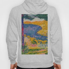 Henri-Edmond Cross Neo-Impressionism Pointillism Valley with Fir Shade on the Mountain Oil Painting Hoody