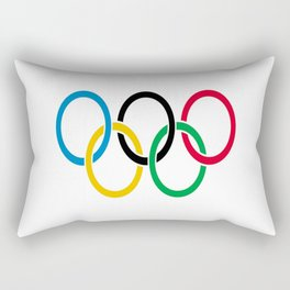 Flag of olympics games-olympic,olympic game,sport,coubertin, circles,medal,fun,international Rectangular Pillow