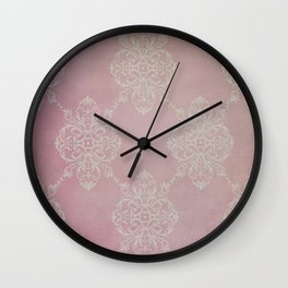 Vintage Damask - Cherry Wall Clock