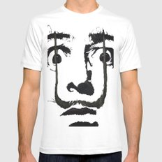 I am drugs ( Salvador Dali ) LARGE Mens Fitted Tee White