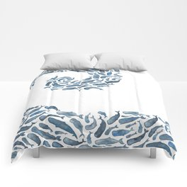 Whale Wave.  Comforters