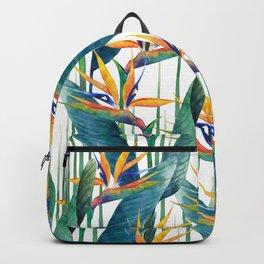 Watercolor strelitzia Backpack