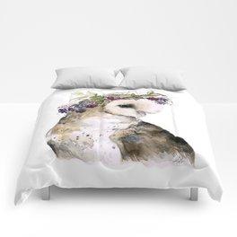Flower Crowned Barn Owl Comforters