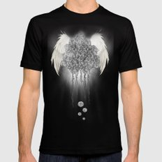 Angel of the chaos MEDIUM Mens Fitted Tee Black